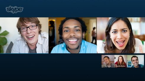 Using Skype to communicate across the world